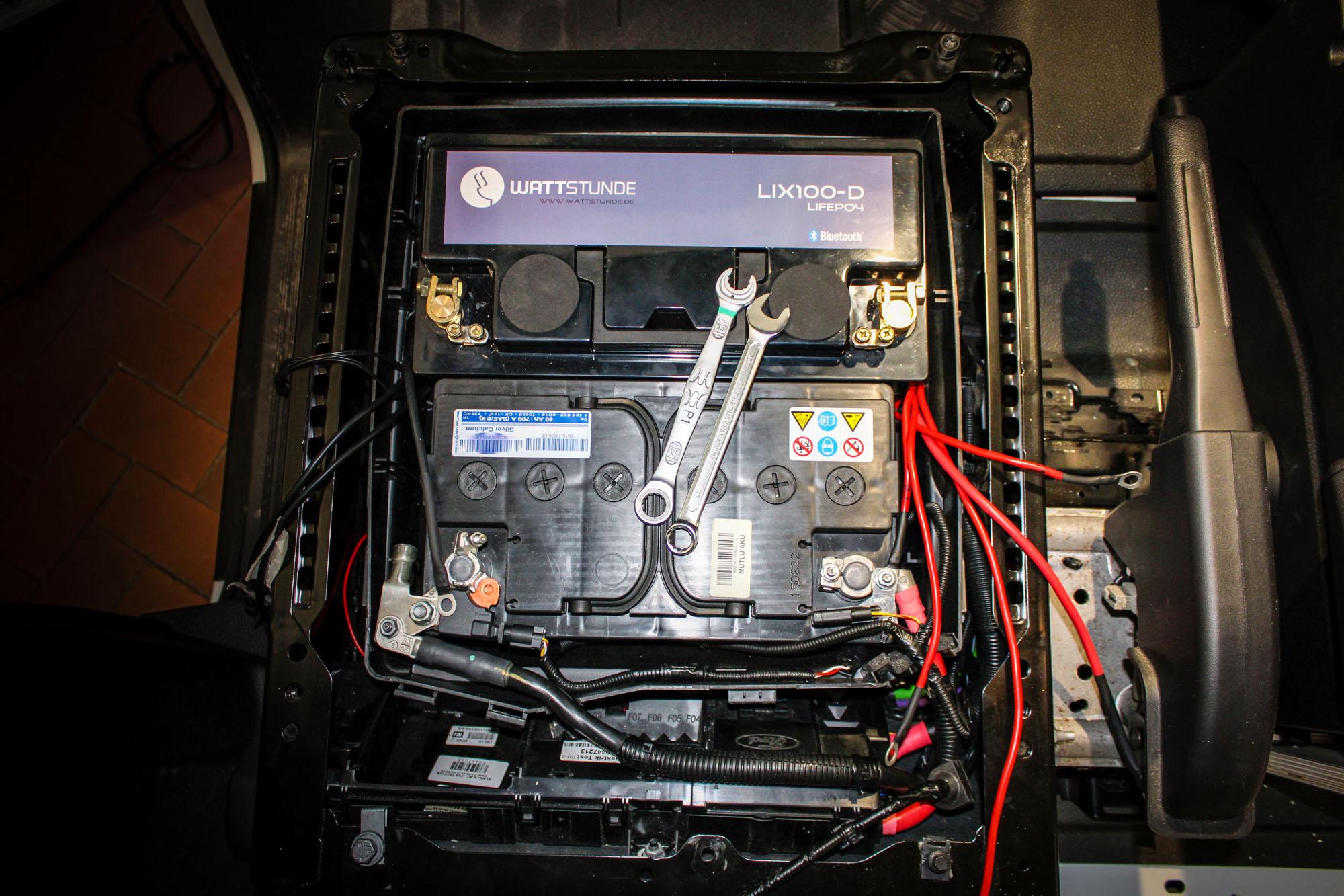 Zweite Batterie 100Ah Lithium