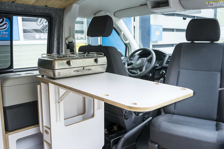 3 in 1 Konzept: VW T6 mit Eiche und Airlineboard - 2